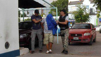 El sospechoso, al ser trasladado por la tarde a la sede de Seguridad Personal.