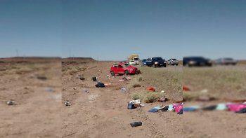 una familia cipolena volco sobre la ruta 237 de regreso a casa: una mujer resulto herida