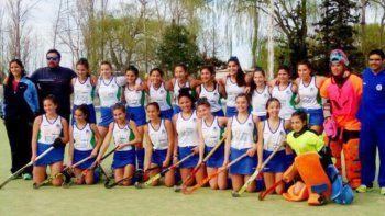 El plantel de Río Negro sub-14, campeón patagónico 2016 en Trelew.