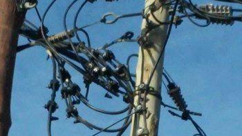 El seccionador eléctrico de Costa Esperanza fue desconectado ayer.