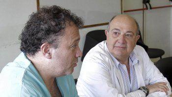 Medin presentó el proyecto junto al director del hospital, Carlos Lasry.