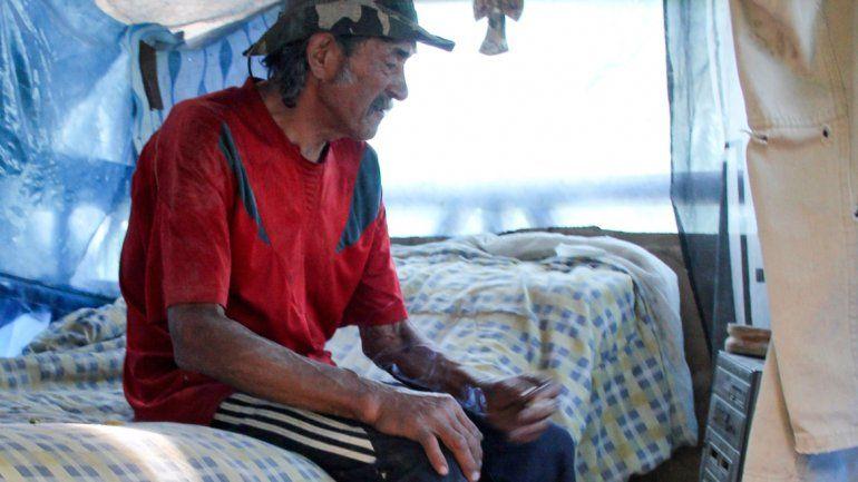 Fernández tiene 67 años y hace 12 vive en una chacra de la zona norte.