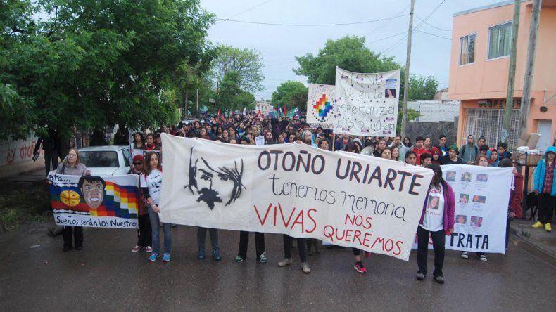 Marcharon a 10 años del secuestro y femicidio de Otoño Uriarte