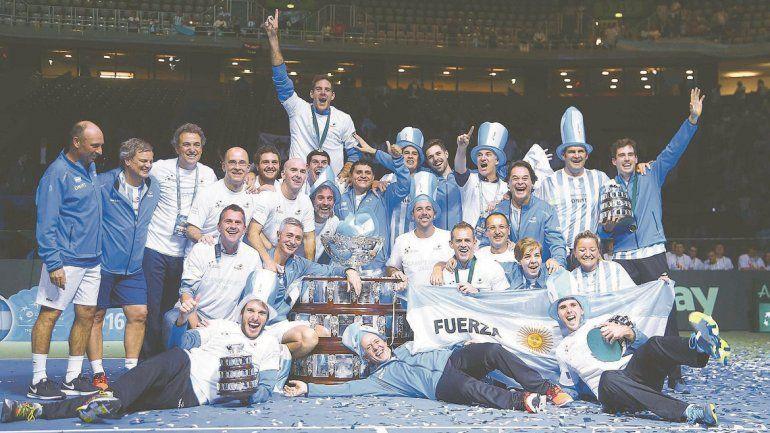 Noche inolvidable para el Niño y todo el equipo argentino