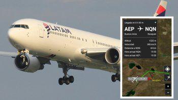 Un avión de LATAM debió evadir la tormenta sobrevolando por el valle