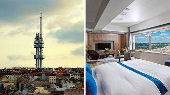 La vieja torre de televisión de Praga es ahora un hotel