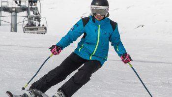¡A esquiar! El clima adelantó las condiciones para el deporte.