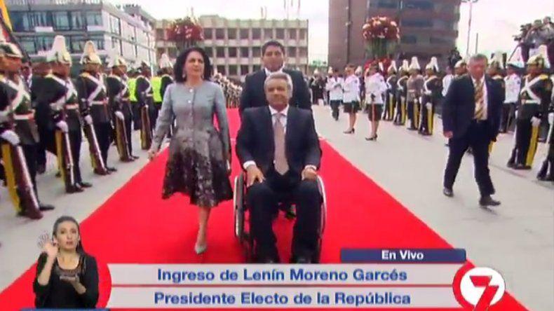 Mauricio Macri concurrió a la asunción de Lenín Moreno