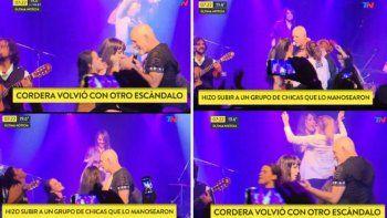 Polémica: Cordera subió mujeres al escenario para que lo tocaran