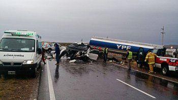 Murieron dos hermanitos en un accidente sobre la Ruta 151