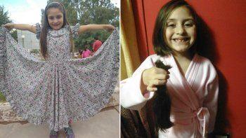 corazon gigante: con 6 anos dono su pelo para enfermos de cancer