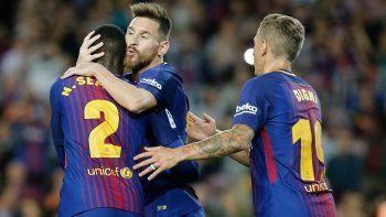 con cuatro goles de messi, barcelona vencio 6 a 1 al eibar