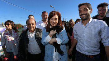 La ex presidenta recorrió la localidad de Berazategui.