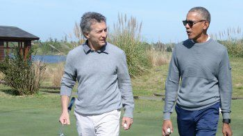 Obama visitó a Macri y jugaron al golf en un exclusivo club