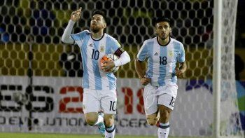 Con tres de Messi
