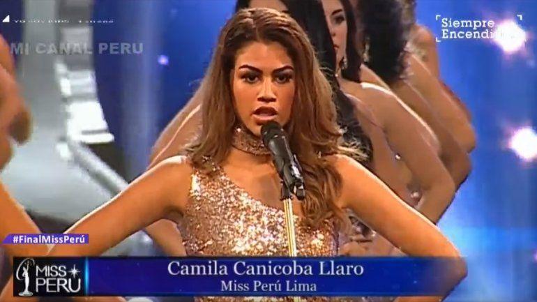 Miss Perú: en lugar de sus medidas dijeron las cifras de violencia de género
