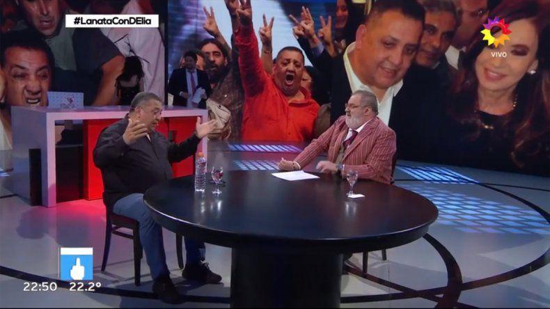 Luis DElía con Lanata en PPT