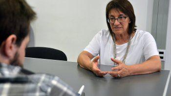 Mónica Silva defendió la reforma de la escuela secundaria en Río Negro.