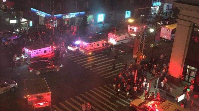 Cuatro heridos en un atentado en el subte de Nueva York