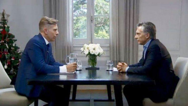 Macri, en entrevista con Fantino: El país va por el rumbo correcto