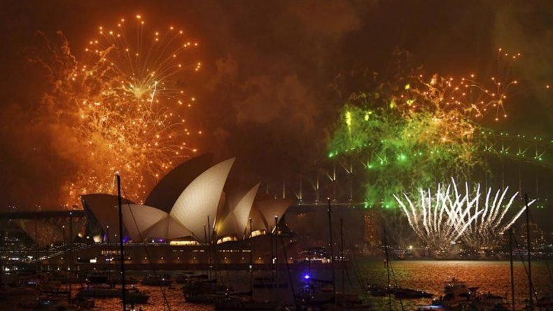 Con un show imponente, Australia recibió el 2018