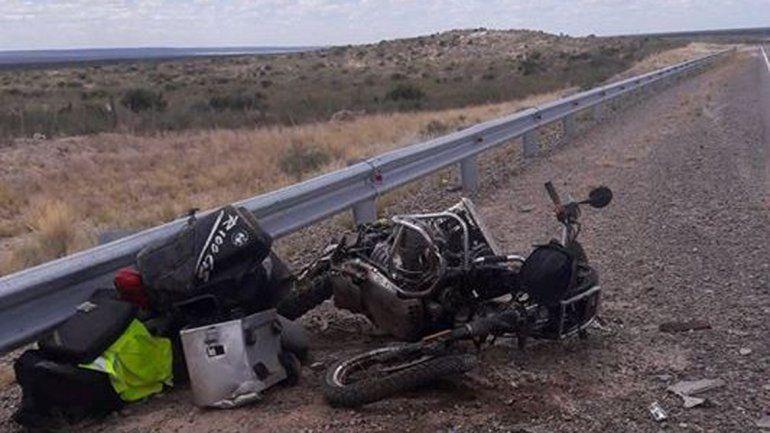 Un motociclista austríaco murió en choque frontal en Las Grutas