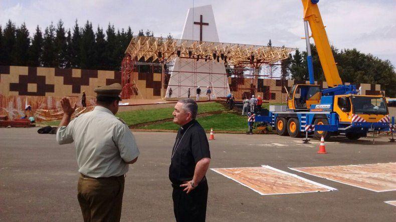 En las calles de Temuco se empezó a sentir el clima papal desde el fin de semana