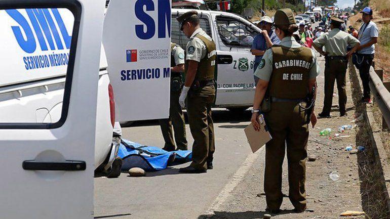 Una mujer murió durante la salida del predio de Temuco