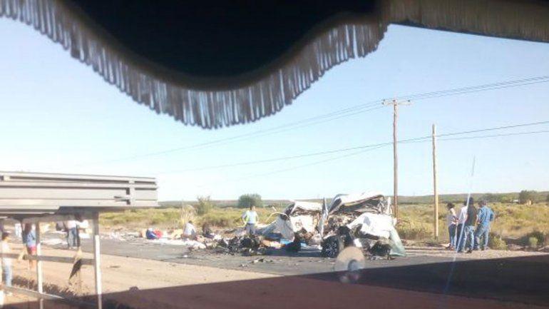 Tres muertos y un herido grave en un choque frontal en la Ruta 7