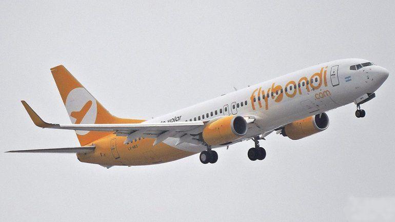Flybondi admitió que sufrió una falla técnica  en su vuelo de bautismo en Córdoba