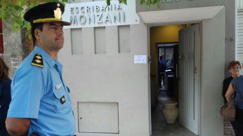 Golpe a una escribanía: violentaron una puerta y robaron importante suma de dinero