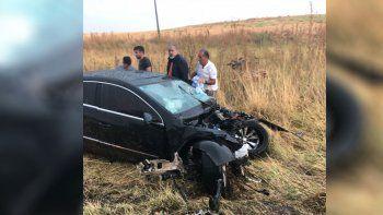tras la carrera en viedma, el motorista de manu urcera choco y se salvo de milagro