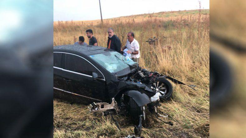Tras la carrera en Viedma, el motorista del cipoleño Manu Urcera chocó y se salvó de milagro