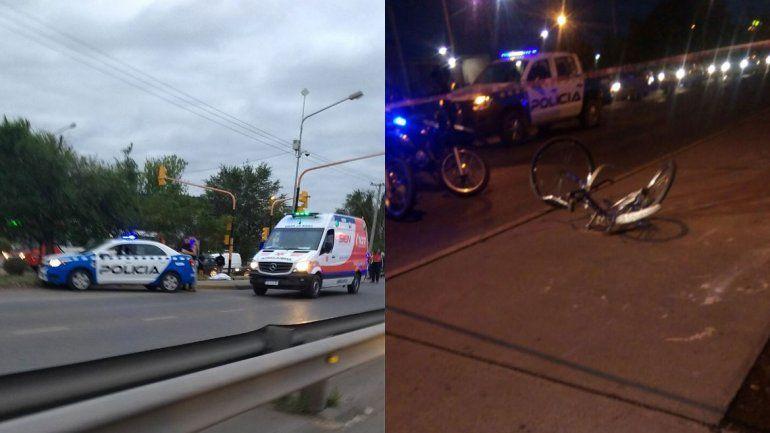 Un ciclista de 82 años murió atropellado en la Ruta 22