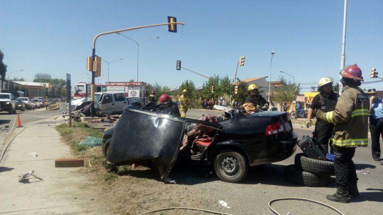 Un muerto y dos heridos en un accidente sobre la Ruta 22 en Plottier