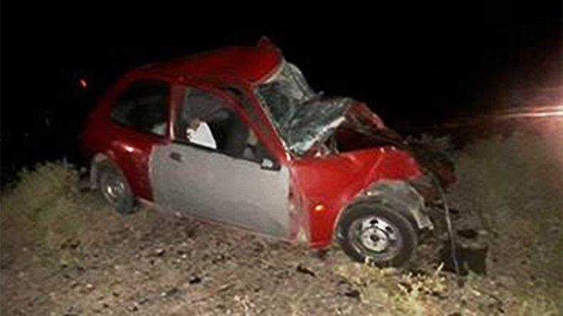 Dos hombres murieron en un tremendo choque frontal sobre la Ruta 22