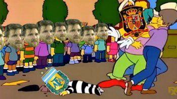 Los argentinos pusieron a trabajar su creatividad ante la derrota de la Selección.