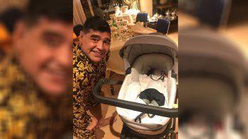 Maradona viajó para conocer a Dieguito Matías