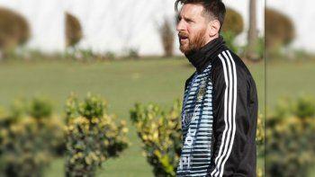 Llegó Messi y ya entrena con la Selección Argentina