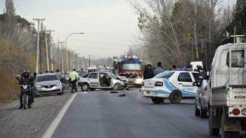 un choque frontal sobre la ruta 151 dejo como saldo un muerto y tres heridos