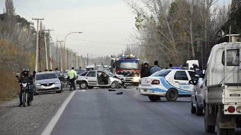 Un choque frontal sobre la Ruta 151 dejó como saldo un muerto y tres heridos