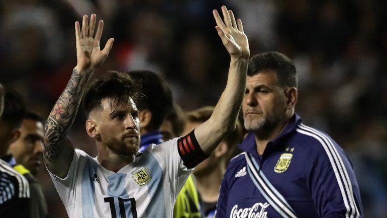 Messi marcó tres tantos en la goleada frente a Haití.