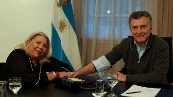 Macri recibió a Carrió para bajar la tensión
