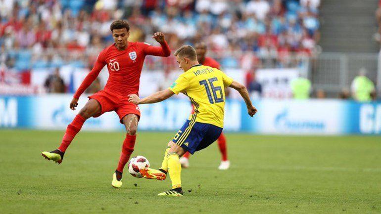 Inglaterra le ganó 2 a 0 a Suecia y se metió en las semifinales