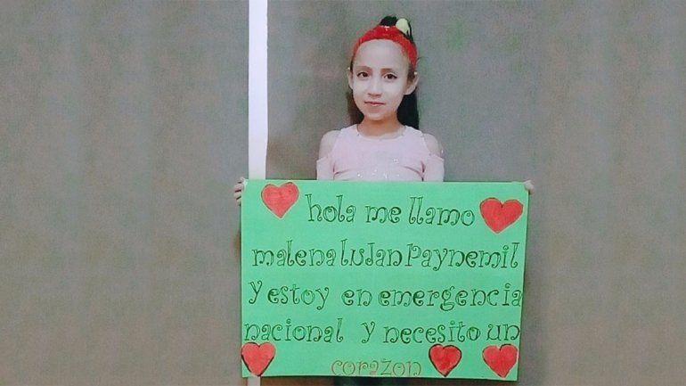 Malena, la nena neuquina que aguarda un trasplante de corazón