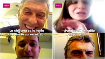 Macri hace videollamadas