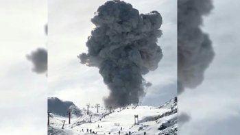 asi fue la explosion en el complejo volcanico nevados de chillan