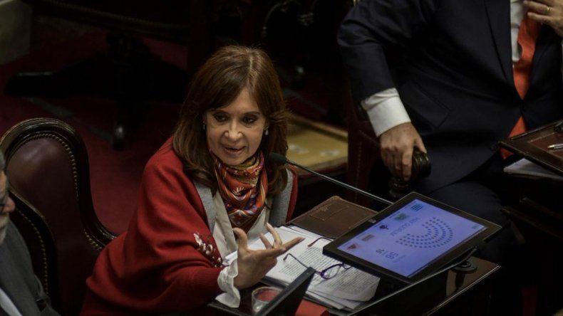CFK: Estamos rechazando un proyecto sin proponer nada alternativo