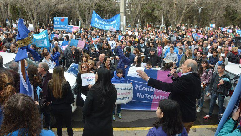 Evangélicos marcharon en contra de la ideología de género y hay polémica