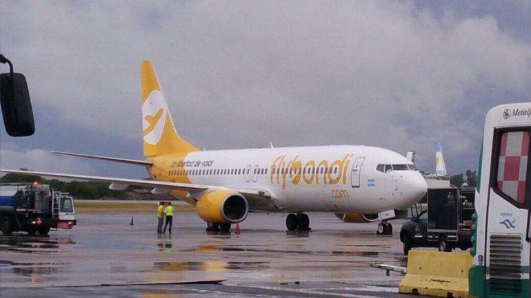 Un vuelo de Flybondi que iba a Bariloche tuvo que volver urgente a El Palomar